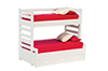 AZT5171 - Bunkbed with Trundle/White/Cb