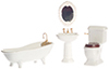 AZT5226 - Porcelain Bath Set/4/White