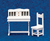AZT5351 - Desk & Chair Set, 2, White