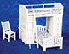 AZT5358 - Bunkbed Set with Desk/Chr/Wh