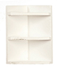 AZT5359 - Corner Shelf, White