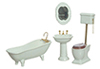 AZT5364 - Bath Set, 4Pc, White