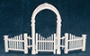 AZT5369 - Arbor with Gate And Fence
