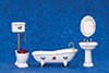 AZT5393 - Bath Set,4,White W/Decal