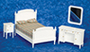 AZT5481 - Double Bed Set, White, 4Pc