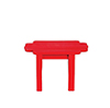 AZT5708 - Adirondack Table, Red