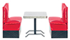 AZT5899 - 1950'S Booth Set/3/Red