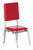 AZT5913 - 1950 Syle Red Chair/Cb