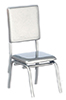 AZT5914 - 1950'S Style Silver Chair