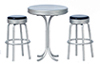 AZT5915 - Tall Table with 2 Stools, Black