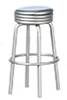 AZT5923 - 1950'S Style Silver Stool