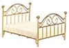 AZT5928 - Brass Double Bed with Mat/Cb
