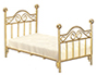 AZT5930 - .Brass Single Bed with Mat/Cb