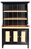 AZT5975 - Hutch, Black/Oak