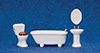 AZT6295 - Porcelain Bath Set 4/Pc, White/Cs