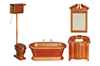 AZT6305 - Old Fashioned Bathroom Set, 4 Pieces