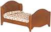 AZT6373 - Double Bed, Walnut