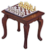 AZT6471 - Chess Table & Chess Set, Walnut, Cb