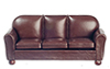 AZT6500 - Sofa, Brown Leather