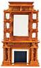 AZT6510 - Victorian Fireplace, Walnut