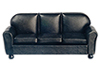 AZT6516 - Leather Sofa, Black