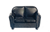 AZT6517 - Loveseat, Black Leather