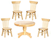 AZT6545 - Kitchen Table with 4 Chairs, Oak, 5pc, Cb