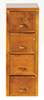AZT6561A - 4-Drawer File Cabinet, Walnut, Cb