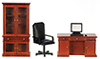 AZT6619 - Desk Set, Walnut, 4Pc