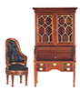 AZT6640 - Colonial Secretary Desk Set, 2PC