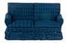 AZT6667 - Traditional Loveseat, Blue