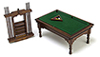 AZT6676 - Pool Table Set, Walnut, Cb