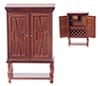 AZT6703 - Chateauroux Bar Cabinet, Walnut