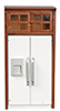 AZT6734 - Refrigerator with Cabinet, Walnut