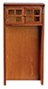 AZT6735 - Cabinet for Refrigerator, Walnut