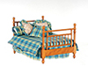 AZT6771 - Double Bed with Linens, Walnut