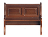 AZT6835A - Long Bench with Back, Walnut