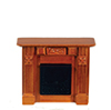 AZT6844 - Elizabeth Fireplace, Walnut