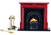 AZT8009 - Fireplace & Accessories Set, 6pc