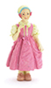 AZT8231 - Abegail/Girl/Pink Dress Figure