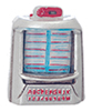 AZT8538 - 1950'S Table Jukebox, Silver