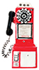 AZT8544 - 1950'S Pay Phone/Red