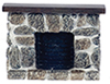 AZYM0215 - Fieldstone Fireplace, Gray