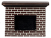 AZYM0217SM - Small Red Brick Fireplace