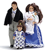 AZ00050 - Victorian Doll Family/4, Brunette