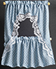 BB52423 - Curtains: Ruffled Cape, Blue Dots