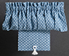 BB56523 - .Curtains: Balloon with Shade, Blue Dot