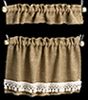 Curtains: Cottage Set, Burlap