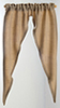 BB70012 - Curtain: Country Tiffany, Tan Ribbed Fabric