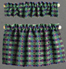 BB70029 - Cafe Curtains: Green with Blue